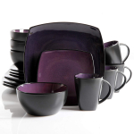Soho Lounge 16-Piece Square Reactive Glaze Dinnerware Set $39.96 (REG $79.99)