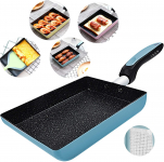 Tamagoyaki Japanese Omelette Pan/Egg Pan – Non-stick Coating – Blue$22.98 (REG $43.00)