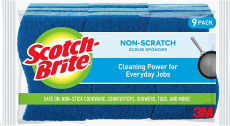 Scotch-Brite Non-Scratch Scrub Sponges, Cleans Fast without Scratching, 9 Scrub Sponges $6.64 (REG $9.82)