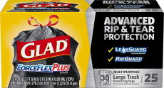 Glad Large Drawstring Trash Bags ForceFlexPlus 30 Gallon Black Trash Bag – 25 Count $8.08 (REG $14.28)