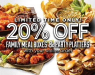 Party Platters / 20% OFF FAMILY MEAL BOXES & PARTY PLATTERS WITH ONLINE ORDER