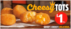 Burger King's Cheesy Tots 4pc for 1$