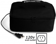 HotLogic Food Warming Tote, Lunch Bag 120V,Black $29.95 (REG $49.99)