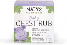 Maty's All Natural Baby Chest Rub 1.5 Oz, Eases Congestion & Soothes to Sleep $4.96 (REG $7.00)