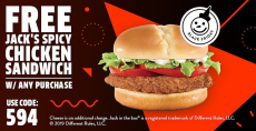 Jack In The Box  Free Jack's Spicy Chicken Sandwich w/ Any Purchase