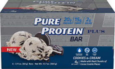 Pure Protein Plus Bars, Gluten Free, Cookies and Cream, 2.11 oz, 6 Count $5.03 (REG $16.14)