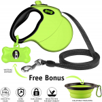 Retractable Dog Leash with Free Waste Bag Dispenser and Bags + Bonus Bowl $18.97 (REG $49.97)