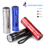 BYB Pack of 4, Super Bright 9 LED Mini Aluminum Flashlight $9.99 (REG $29.98)