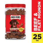 Milk-Bone Soft & Chewy Dog Treats with 12 Vitamins and Minerals $8.49 (REG $15.99)