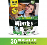 VetIQ Minties Dog Dental Bone Treats $8.90 (REG $14.99)