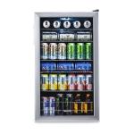 Beverage Cooler and Refrigerator, Mini Fridge with Glass Door $213.34 (REG $389.95)