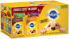 Pedigree Choice Cuts in Gravy Adult Wet Dog Food Variety Packs, 3.5 Oz. Pouches $7.99 (REG $13.29)