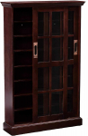 Sliding Door Media Cabinet – 4 Adjustable Shelves – Expresso Wood Finish $145.59 (REG $379.99)