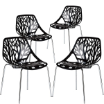 Poly and Bark Birds Nest Dining Side Chair in Black (Set of 4) $141.99 (REG $381.00)