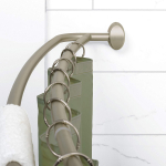 NeverRust Aluminum Double Curved Shower Curtain Rod $25.49 (REG $59.99)
