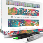 LIGHTNING DEAL!!! Watercolor Brush Pens by Genuine Crafts – Set of 20 Premium Colors $15.20 (REG $30.00)