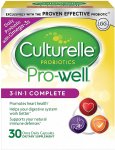 Culturelle Pro-Well 3-in-1 Complete Daily Formula, Contains 100% Lactobacillus GG $9.30 (REG $25.99)