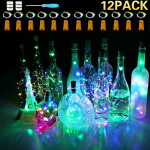 12 Pack Colorful Wine Bottle Lights with Cork-$6.49(50% Off)