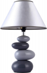 Simple Designs Home LT3052-GRY Shades of Gray Ceramic Stone Table Lamp $15.00 (REG $49.20)