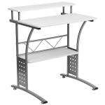 Flash Furniture Clifton White Computer Desk $54.52 (REG $129.99)