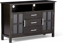 Simpli Home Kitchener Solid Wood 53 inch Wide Contemporary TV Media Stand $255.99 (REG $599.99)