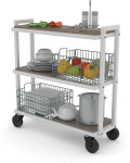 Atlantic Cart System 3 Tier Cart – Wide Mobile Storage $103.99 (REG $159.00)