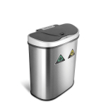 Automatic Touchless Infrared Motion Sensor Trash Can/Recycler with D Shape $60.38 (REG $116.00)