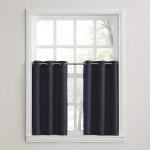 Kitchen Curtain Tier Pair, 56″ x 36″, Navy Blue $9.29 (REG $19.99)