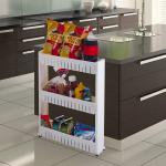 Mobile Shelving Unit Organizer with 3 Large Storage Baskets $14.99 (REG $44.99)