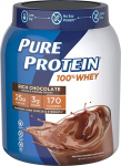 Pure Protein Powder, Whey, High Protein, Low Sugar, Gluten Free, Rich Chocolate $15.46 (REG $22.33)