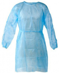 Disposable Isolation Gown Size: Universal Qty: 50 per Case (Lightweight Blue) $87.99 (REG $133.99)