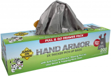 Bags On Board Hand Armor Dog Poop Bags | Extra Thick Dog Waste Bags $6.80 (REG $16.99)