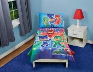 PJ Masks Catboy Owlete Gekko 4 pc Toddler Bed Set, Blue $17.40 (REG $44.99)