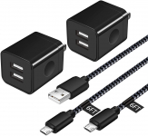 HI-CABLE Android Charger Cable, Micro USB Cable [2 Pack/6FT] $11.89 (REG $29.99)