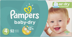 Diapers Size 4, 92 Count – Pampers Baby Dry Disposable Baby Diapers, Super Pack $24.27 (REG $41.29)