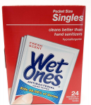 Wet Ones Antibacterial Singles, 24 ct (1 Pack) $9.99 (REG $29.99)