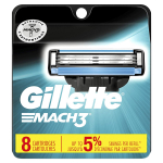 LIMITED TIME DEAL!!! Gillette Mach3 Men's Razor Blades – 8 Refills $12.99 (REG $22.66)