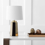 Safavieh TBL4089A Lighting Collection Parlon Plated Gold Table Lamp $41.54 (REG $113.22)