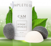 Organic Konjac Sponges for Gentle Exfoliating w/ Premium Activated Bamboo Charcoal $15.77 (REG $19.99)
