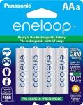 Panasonic BK-3MCCA8BA eneloop AA 2100 Pre-Charged Rechargeable Batteries $18.99(REG $26.99)