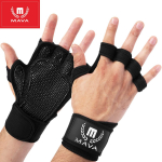 Workout Gloves with Integrated Wrist Wraps and Full Palm Silicone Padding $11.97 (REG $29.99)
