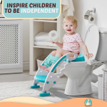 BABYSEATER Toilet Training Seat with Ladder and Handles for Toddlers, Turquoise $34.95 (REG $95.00)