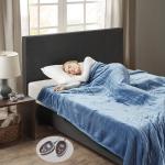 Woolrich Heated Plush to Berber Blanket Sapphire Blue Queen$66.94 (REG $135.99)