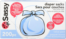 Sassy Baby Disposable Diaper Sacks, 200 Count, Packaging may vary $6.57 (REG $13.28)