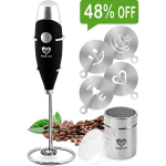 Milk Frother Handheld Coffee Art Set  – Battery Operated Mini Blender $12.99 (REG $24.99)