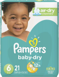 Pampers Baby-Dry Diapers Size 6 21 Count (Packaging May Vary)$8.97 (REG $22.08)