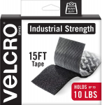 VELCRO Brand Heavy Duty Tape w/ Adhesive | 15 Ft x 2 In | Holds 10 lbs, Black $20.48 (REG $40.49)