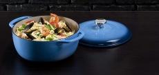 Lodge 6 Quart Enameled Cast Iron Dutch Oven. Blue Enamel Dutch Oven (Blue) $44.50 (REG $115.00)