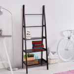 Casual Home 5-Shelf Ladder Bookcase, Espresso $62.52 (REG $114.99)