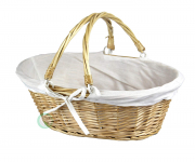 Oval Willow Basket with Double Drop Down Handles $12.90 (REG $35.00)